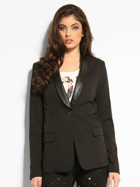 Marciano leather collar blazer.