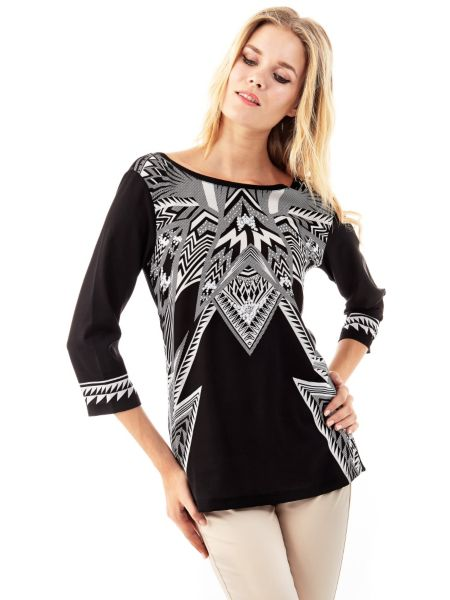 T shirt marciano imprimé géométrique