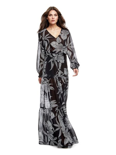 Robe longue marciano florale