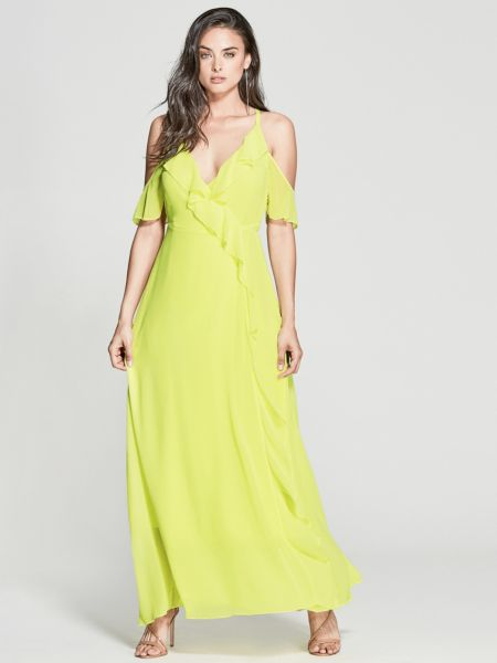 Langes Kleid Marciano Rüschen - Guess