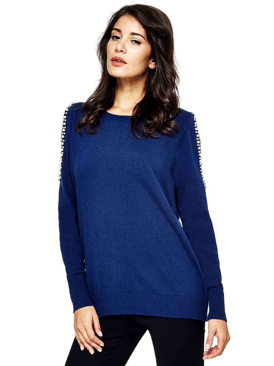 7afd72a36d3 Guess Guess Marciano Bare Shoulder Sweater at £49.5
