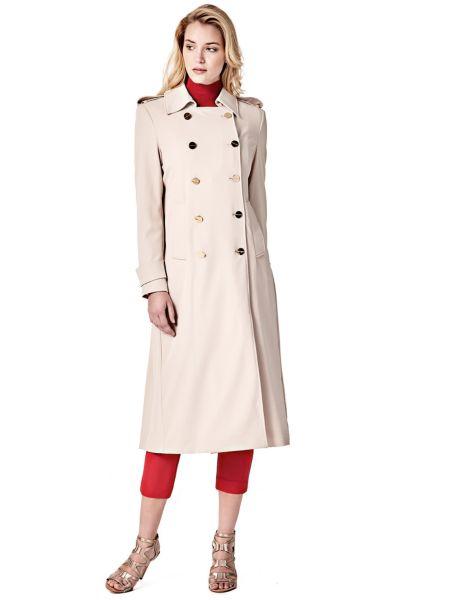Klassischer Trenchcoat Marciano | Bekleidung > Mäntel > Trenchcoats | Weiß | Polyester - Viskose - Acetat | Guess