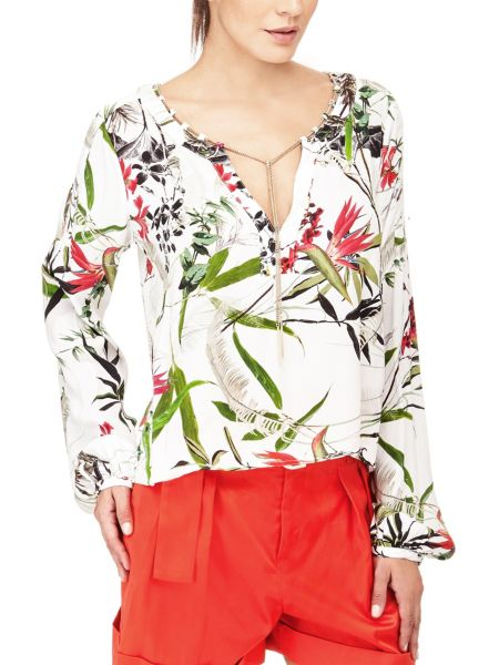 Bluse Marciano Natur-Print Kette - Guess