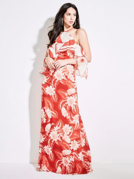Imagen principal de producto de Vestido Largo Marciano Estampado Flores - Guess