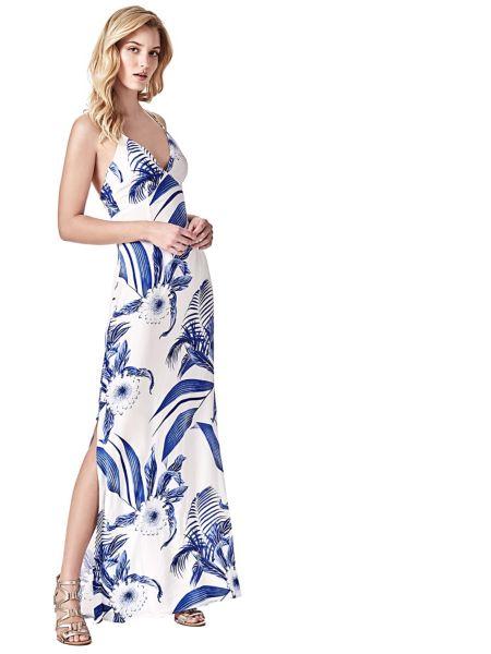 Langes Kleid Marciano Seide Blumenprint - Guess