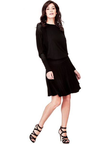 Kleid Marciano Stoff Mit Lochmuster - Guess