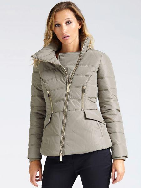 Wattierte Jacke Reissverschluss   Bekleidung > Jacken > Sonstige Jacken   Beige   Guess