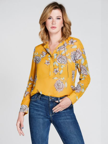 Bluse Marciano Blumen Kette - Guess