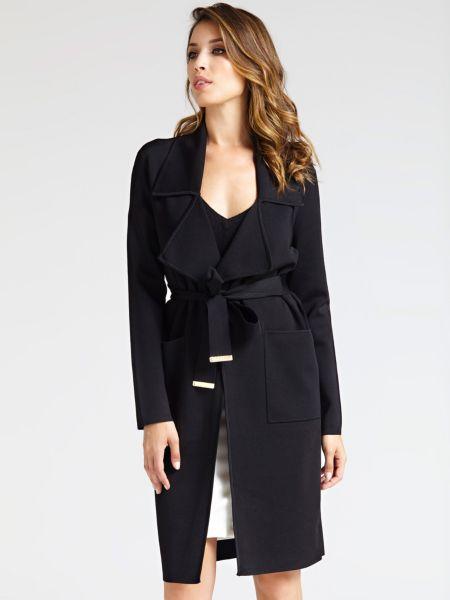 Cardigan Marciano Trenchcoat-Stil | Bekleidung > Mäntel > Trenchcoats | Schwarz | Guess