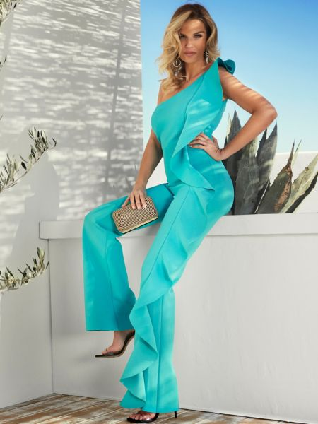 Jumpsuit Marciano Volant-Detail   Bekleidung > Homewear   Himmelblau   Polyester   Marciano Guess