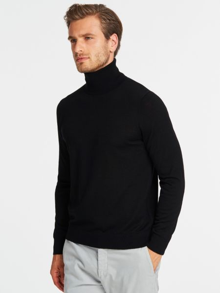Wollpullover Marciano Hoher Kragen | Bekleidung > Pullover > Sonstige Pullover | Schwarz | Guess