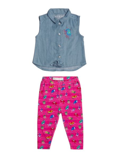 Set Camicia Denim E Leggings