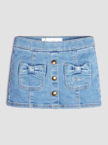 Jeansrock Schleifen | Bekleidung > Röcke > Jeansröcke | Blau | Baumwolle - Polyester | Guess
