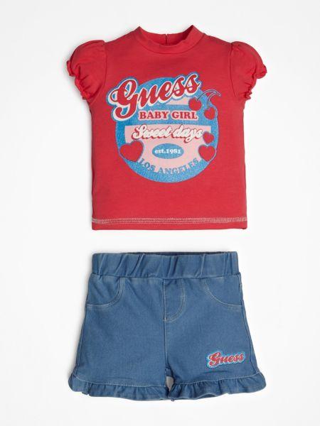 Guess - Set Jeansshorts Logo Vorn - 1