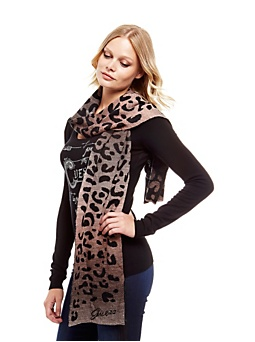 Winter savannah animalier scarf