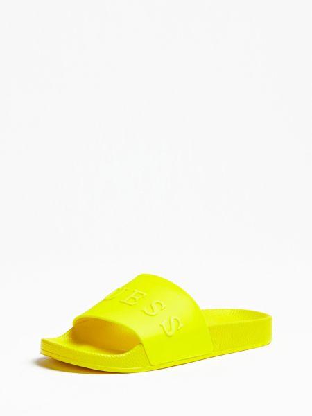 Pantolette Logo Vorne | Schuhe > Clogs & Pantoletten | Mehrfarbig  gelb | Guess