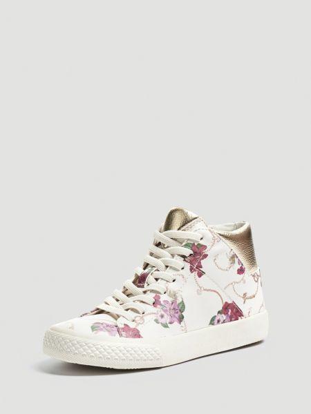 Sneaker Marty Print Blumen Ketten | Schuhe > Sneaker > Sneaker | Mehrfarbig -  weiß | Guess