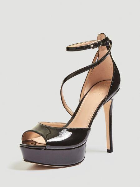 Sandalette Lohana Lack | Schuhe > Sandalen & Zehentrenner | Schwarz | Guess