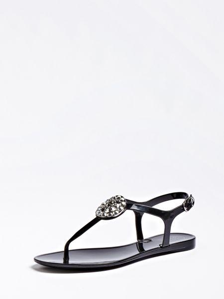 Zehenstegsandale Jacode Glitzer-Optik | Schuhe > Sandalen & Zehentrenner > Sandalen | Mehrfarbig schwarz | Guess