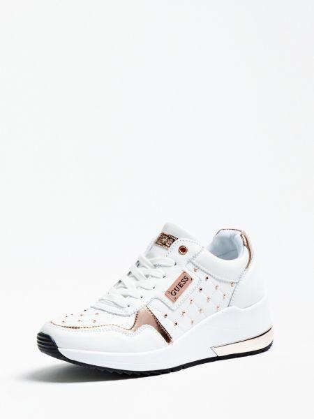 Sneaker Janetta Nietenapplikation | Schuhe > Sneaker > Sneaker | Weiß | Guess
