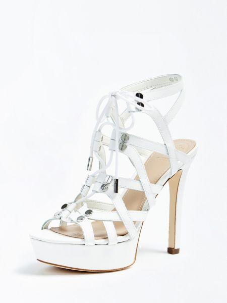Sandalette Lelani Echtes Leder | Schuhe > Sandalen & Zehentrenner > Sandalen | Weiß | Guess