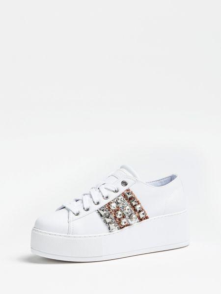 Sneaker Neomi Applikationen | Schuhe > Sneaker > Sneaker | Weiß | Guess