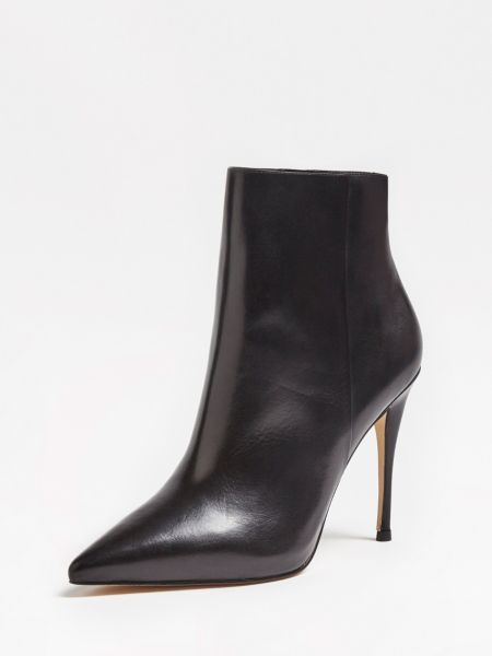 Ankle Boot Olanes Echtes Leder   Schuhe > Boots > Sonstige Boots   Schwarz   Guess