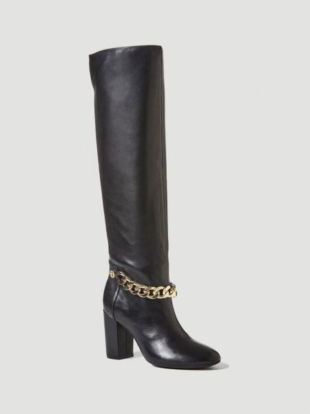 Stiefel Aerite Leder Kette | Schuhe > Stiefel | Schwarz | Guess