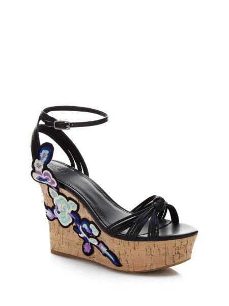 Chaussures À Semelle Compensée Chloe Fleurs Brodées
