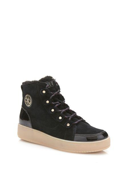 Sneaker Alta Dina Pelle Scamosciata