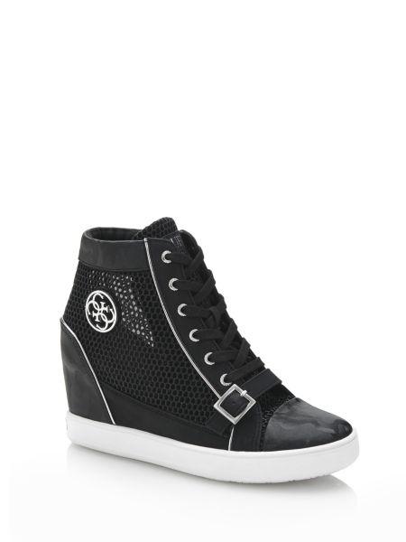Sneaker Zeppa Fiore Lavorazione Traforata