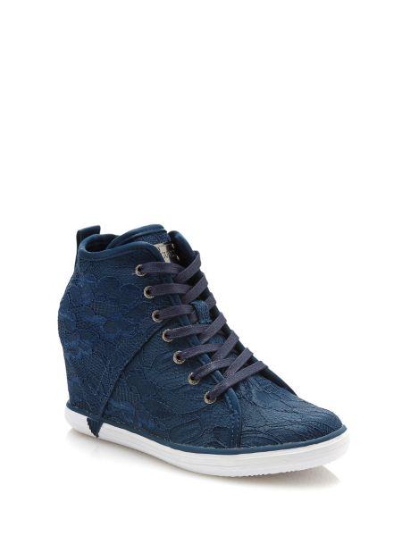 Sneaker compensee jilly dentelle