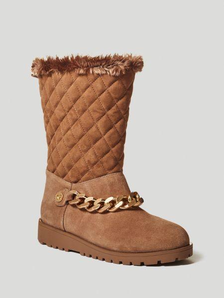 Stiefel Lizanna Gestepptes Leder | Schuhe > Stiefel | Beige | Guess