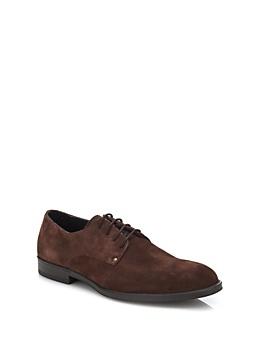 Chaussure à lacets D1 en cuir suédé