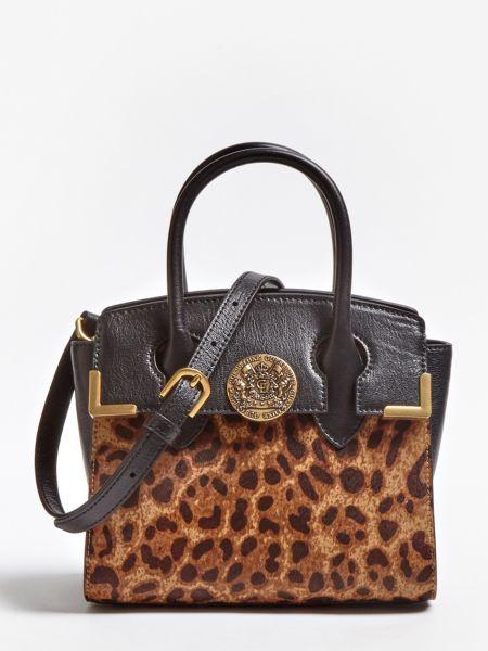 Mini-Henkeltasche Luxe Atlas Animal   Taschen > Handtaschen > Henkeltaschen   Baumwolle   Guess