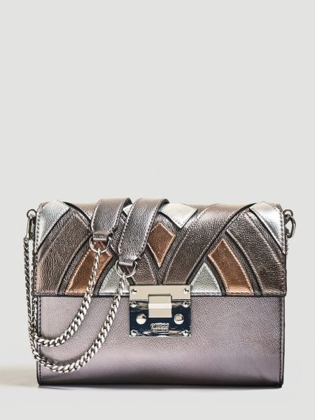 Umhängetasche Alba Metallic-Optik | Taschen > Handtaschen > Umhängetaschen | Mehrfarbig violett | Baumwolle | Guess