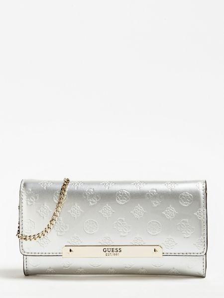 Clutch Highlight Lackoptik | Taschen > Handtaschen | Silber | Baumwolle | Guess