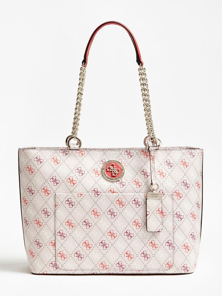 88ff253437 GUESS Sac Cabas Landon Logo All-Over