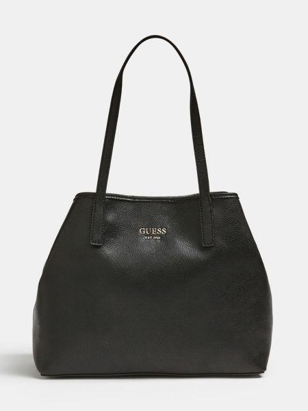 Shopper Vikky Pochette | Taschen > Handtaschen > Shopper | Schwarz | Baumwolle | Guess