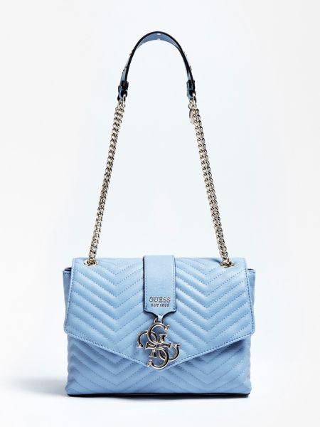 Umhängetasche Violet Steppoptik | Taschen > Handtaschen | Himmelblau | Baumwolle | Guess