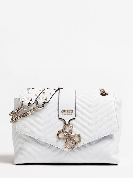 Umhängetasche Violet Steppoptik | Taschen > Handtaschen > Umhängetaschen | Weiß | Baumwolle | Guess