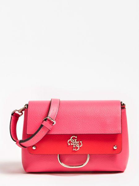Umhängetasche Kim Logo Charm Quaste | Taschen > Handtaschen > Umhängetaschen | Fuchsia | Baumwolle | Guess