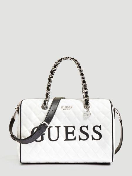 Handtasche Sweet Candy Logo | Taschen > Handtaschen > Sonstige Handtaschen | Mehrfarbig -  weiß | Baumwolle | Guess