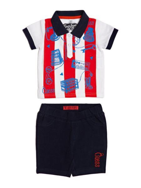 Set Polo Righe E Shorts