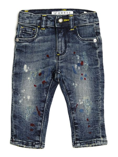 Jeans Dettagli Effetto Vernice