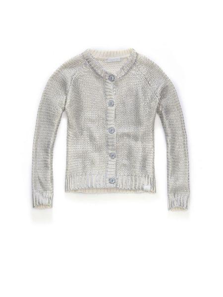 Cotton nylon cardigan