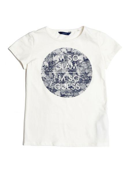 T shirt logo dentelle