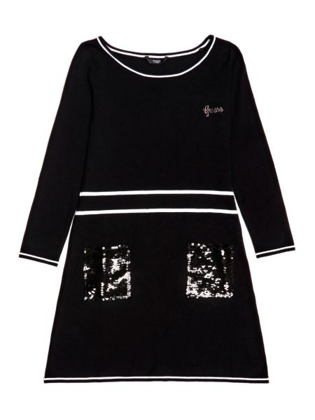 Kleid Taschen Pailletten - Guess