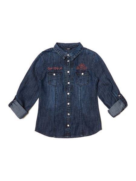 Camicia Classica In Denim