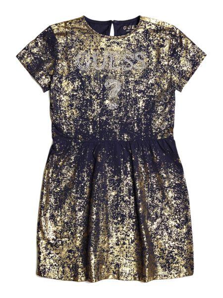 Kleid Metallic-Optik - Guess